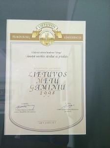lietuvos_metu gaminys_1998_diplomas
